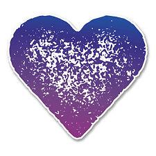 2 X 10 Cm púrpura amor corazón Etiqueta Auto Moto Laptop Casco Skate Snow Surf # 6256