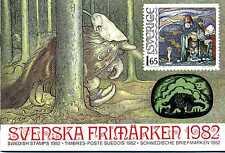 Svenska Frimärken 1982 Schweden Briefmarken ** Kompl. Jahrgang 1982 KI22102