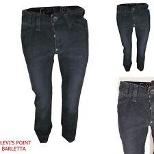g-star raw pantalone uomo W30 W31 in velluto a coste strette jeans reese nero