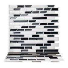 Tic Tac Tiles® Peel and Stick Self Adhesive Smart Backsplash Tiles Como Gray