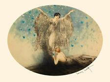 Fashion Lady Girl Butterfly Art Deco by Louis Icart Fine Art Repro FREE SH