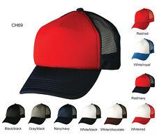 Plain Adult Mens Adjustable Contrast Trucker Cap / Hat - ch69