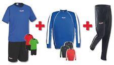 4er Set für Sport Spiel Training (Trikotset + Sweat + Hose lang) Team Verein