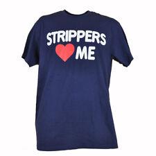 Spencers Strippers Love Me Heart Strip Club Twerk Navy Blue TShirt Tee