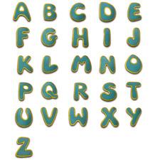 toppa termoadesiva Alfabeto/Lettera blu Patch - diverse varianti disponibili