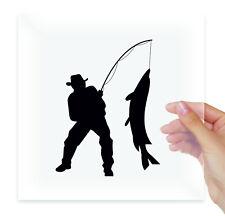 Fisherman fishing for pike Vinyl Sticker Decal Laptop Moto Car Auto Bumper Art
