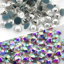 Strass Termoadesivi DELUXE Hotfix Crystal e AB Brillantini 144-1440pz  SS4-SS40