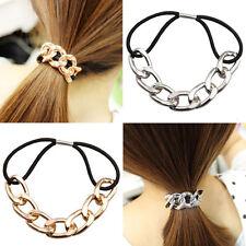 Hipster Women Chain Elastic Headband Elastic Hair Band Rope Head Knot Rope LY