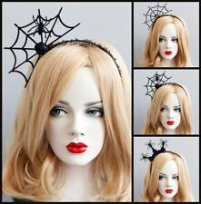Spider Web Rose Crystal Punk Gothic Emo Lace Halloween Cosplay Tiara Headband
