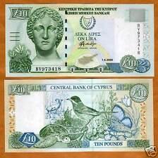CYPRUS, 10 pounds, 2005, P-62 (62e) UNC > Last Pre-Euro