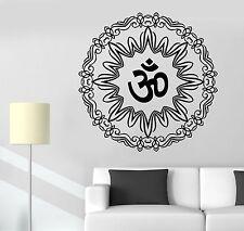 Wall Sticker Sanskrit Mandala Om Chakra Zen Relaxation Vinyl Decal (z2927)