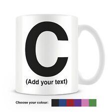 Helvetica lettera C Tazza da caffè-può essere personalizzata-aggiungi il tuo nome - 6 COLORI