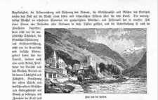 Visp Fischp Viège Balfrin Wallis HOLZSTICH von 1883