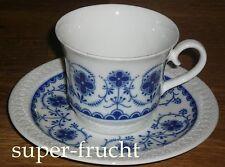 1 Kaffeetasse + Untertasse   Schumann Arzberg   ECHT COBALT Strohblume  BLAU
