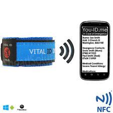 Child SMART ID Wrist Band Kids Emergency Identity Bracelet Allergy Medical PHONE