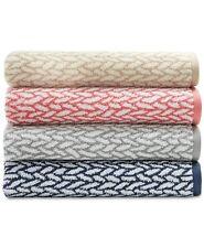 RALPH LAUREN SANDERS Basket Weave Bath,Hand &Washcloth Towels MultiColors Cotton