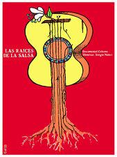 Raices de la salsa, Salsa roots Decor Poster.Graphic Art Interior design.3647