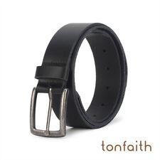Mens Black Brown Fashion Belt Genuine Leather Sizes 29-47IN Black Belt