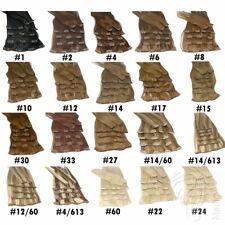 Clip In Extensions 70g Set 7 Tressen Haarteile 60cm Echthaar Haarverlängerung