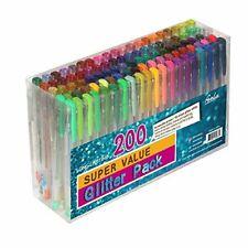 Feela 200 Pack Glitter Gel Pens Set 100 Pen plus Refills for Adult