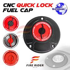 FRW BK/RD CNC Quick Lock Fuel Cap For Honda CBR 929 RR 00-01 00 01