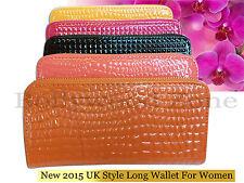 Brand New 2016 Japanned leather women's long design zipper wallet - Free UK Post