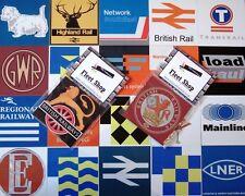 Metal Railway Fridge Magnet Signs | Train Gift | British Rail | NSE | BR | EWS