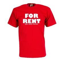 For rent will work for sex, Fun T-Shirt witziges Sprüche Shirt S-5XL (FS076)