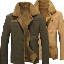 Fashion Men's Warm Fur Lined Army Jacket Winter Casual Parka Outwear Coat XN243
