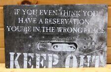 Keep Out TIN SIGN funny teen game room bar decor METAL do not enter wall art