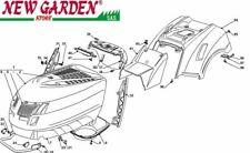 Explosionszeichnung Karosserie 102cm PT140 Aufsitzmäher Rasenmäher Castelgarden