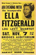 RR03 Vintage Ella Fitzgerald Rock & Roll Concert Advertisement Poster A3/A4