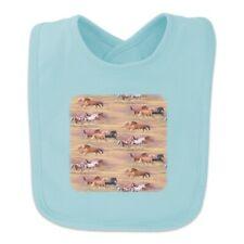 Horses Wild Running Pattern Baby Bib