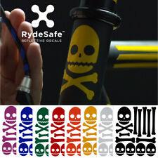 RydeSafe Reflective Bike Sticker Skull Bones reflektierende Totenkopf Aufkleber