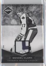 2011 Limited Materials Prime Memorabilia 6 Wendel Clark Toronto Maple Leafs Card