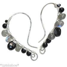 Bora Bora 267 ~Moonstone, Labradorite & Spinel Shaped Earrings with Metal Choice
