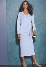 Midnight Velvet Formal Dress Sky Ice Blue Sparkle 3 Pc Skirt Suit Sz 6 10 12 18W