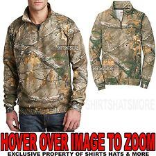 Russell Mens CAMO 1/4 Zip Sweatshirt REALTREE XTRA Hunting S M L XL 2XL 3XL NEW