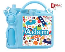 Personalizzata Bambini Pranzo Box E Bottiglia Set-Carino Design SPAZIALE