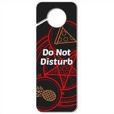 Pineapple and Pizza Pentagram Unholy Combination Plastic Door Knob Hanger Sign