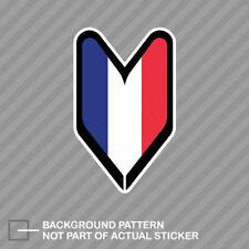 French Driver Badge Sticker Decal Vinyl wakaba leaf soshinoya France FRA FR