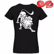 Leo Star Sign Zodiac Signs Astrological Men t-shirt Gents Tee Black Unique