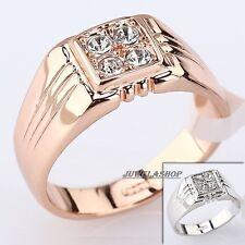 MAßIVER Ring SIEGELRING HERRENRING + Übergrößen 18KRP GOLD Weißgold Roségold pl*
