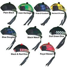 Scottish Traditional Blended Glengarry Hat - Upto Nine Designs Glengarry Hats