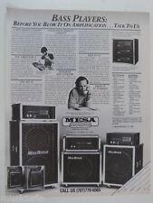 retro magazine advert 1985 MESA BOOGIE bass