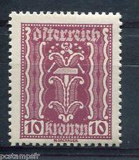 AUTRICHE, 1922, timbre 260, SYMBOLE INDUSTRIE, neuf*