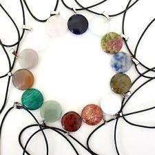 Quartz Orb Globe Chakra Crystal Healing Stone Gemstone Pendant Anxiety Necklace