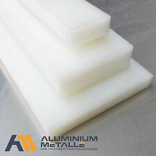 POM plaque 40mm nature blanc longueur x largeur au choix pom-c Prédécoupé