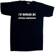 I'd Piuttosto Essere giocare ARMONICA SCOLLO A V T-Shirt