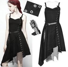 EN STOCK Robe asymétrique gothique punk lolita fashion résille rivets PunkRave